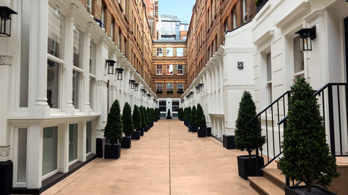 Pinks Mews exterior courtyard