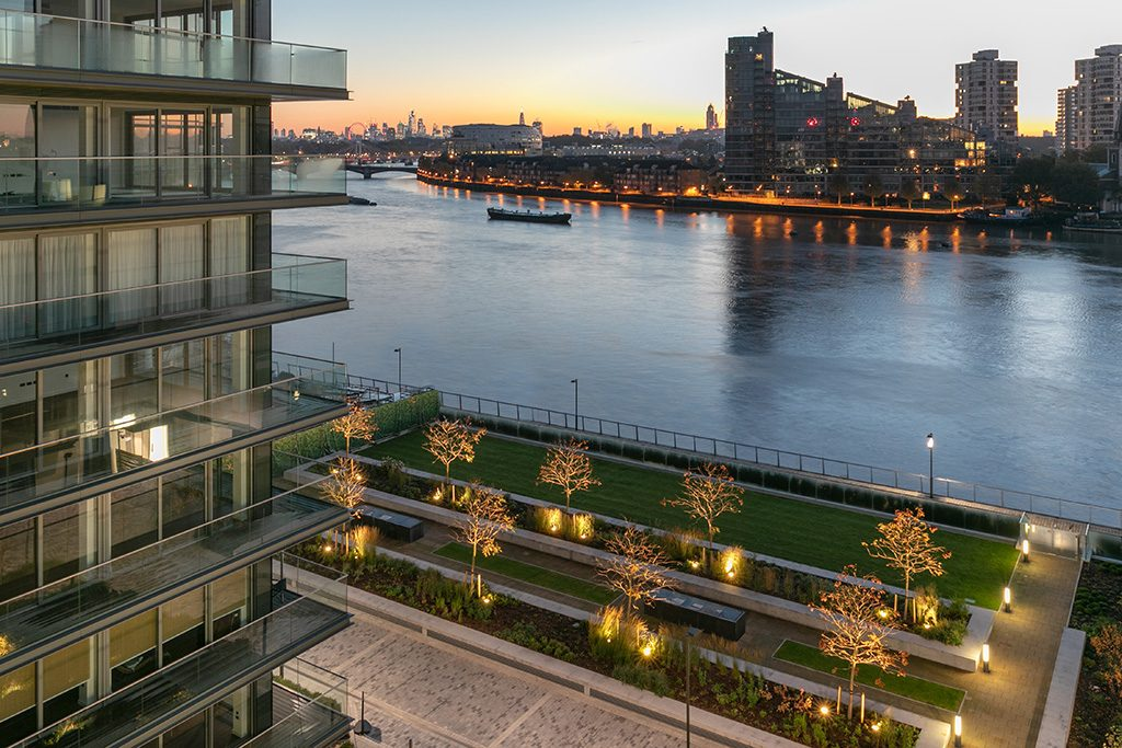 Chelsea Waterfront landscaped gardens