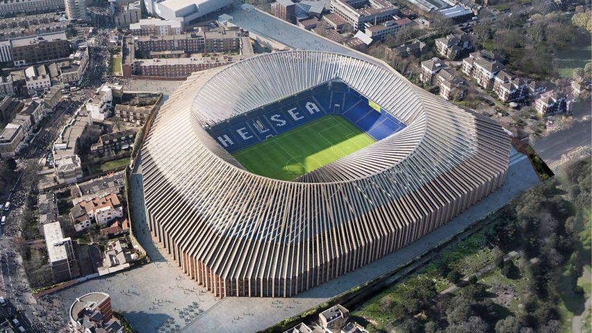 Stamford Bridge - exterior CGI - Herzog & de Meuron - via Dezeen