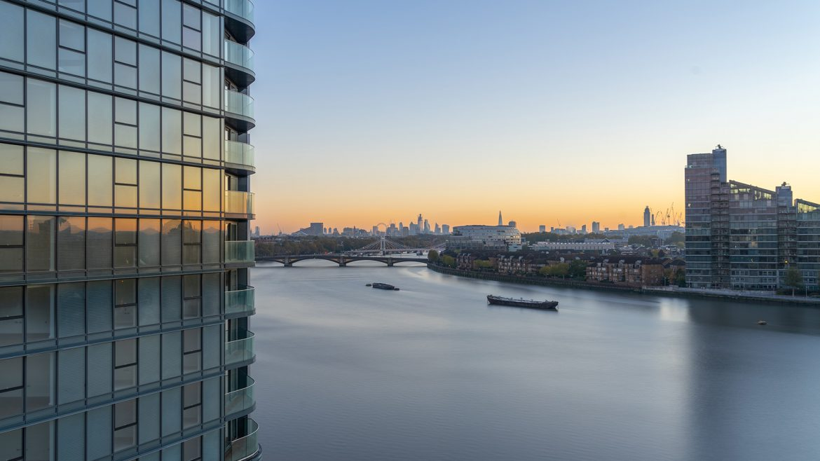 Sunrise at Tower West, Chelsea Waterfront