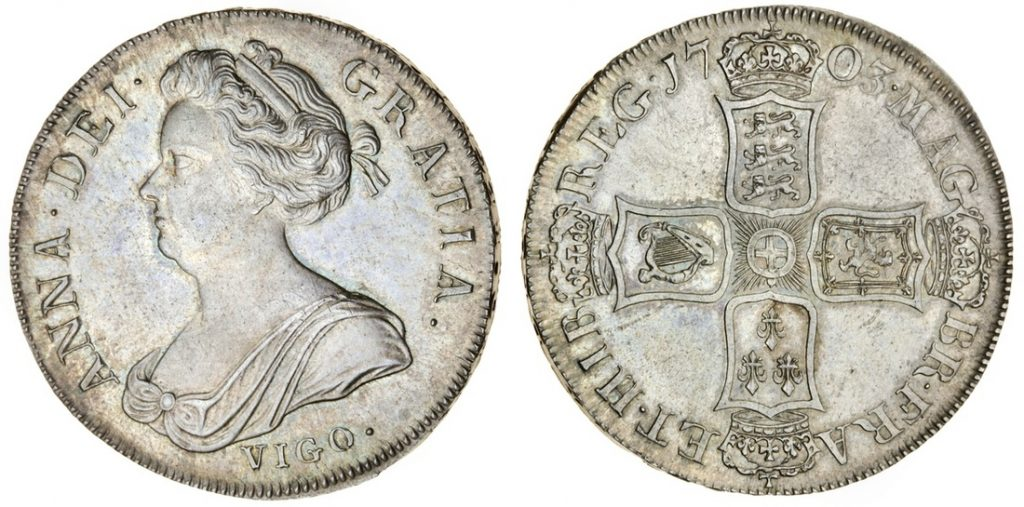 English silver crowns auctioned at Spink