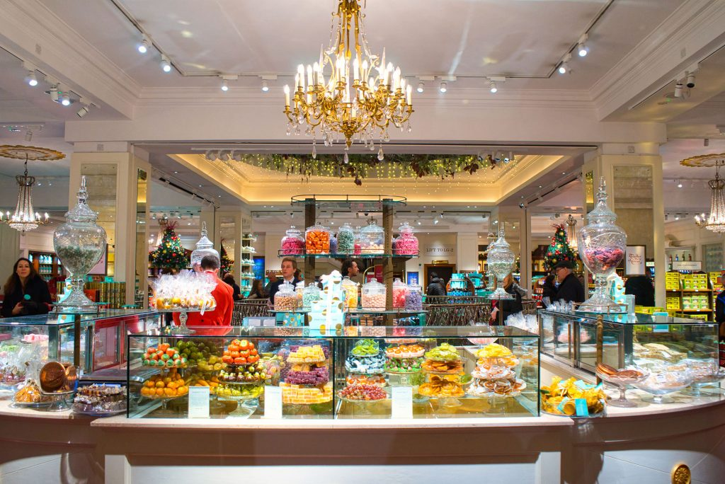 Fortnum and Mason confectionery counter