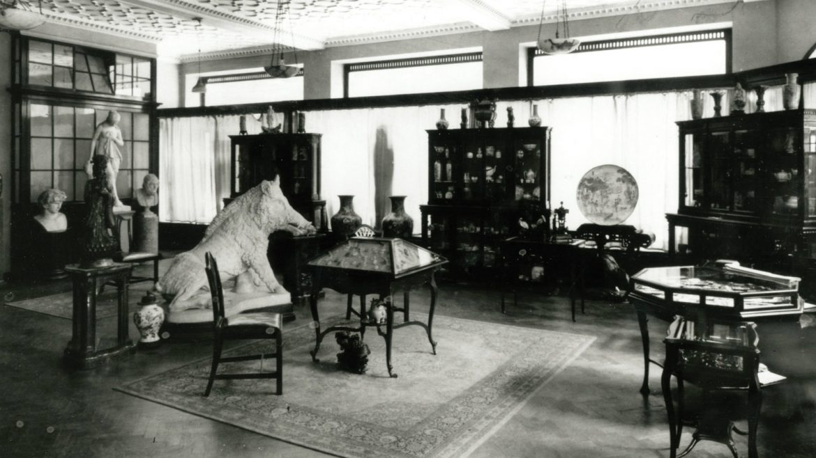 Spink's show room in the past