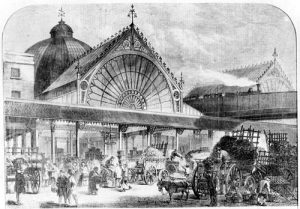 Borough Market, circa 1860. From the Illustrated London News?