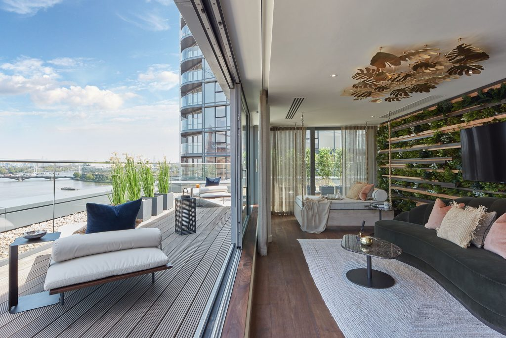 Compton House, Chelsea Waterfront, penthouse show apartment by Morpheus London