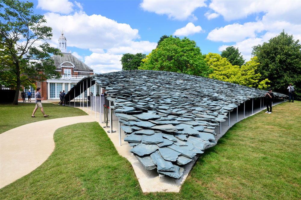 Serpentine Gallery summer pavilion installation by Junya Ishigami