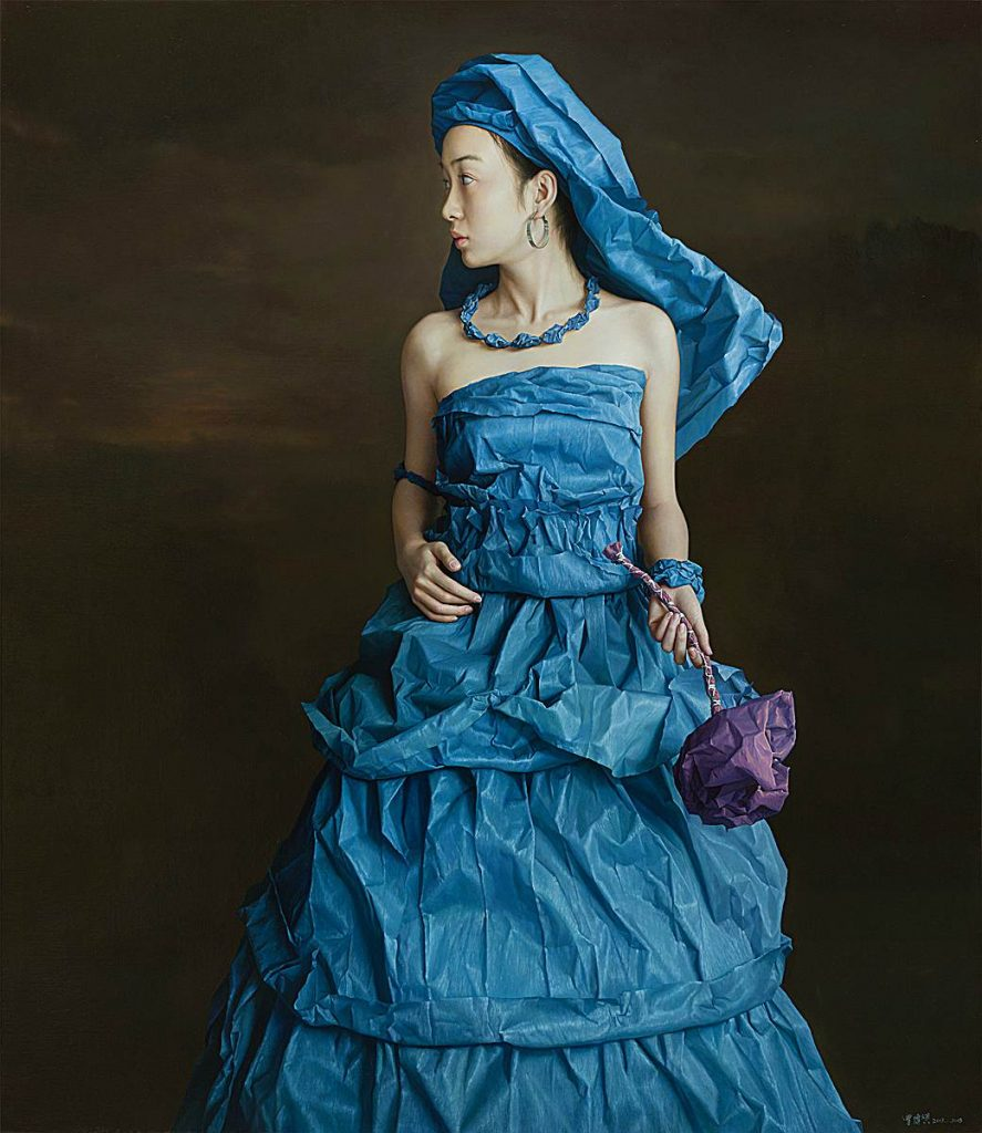 Blue Paper Bride by Zeng Chuanxing, at Tanya Baxter Contemporary