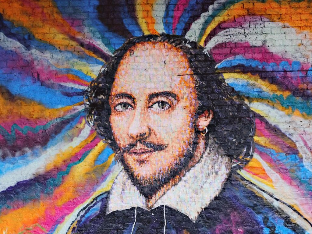 Shakespeare mural by Jimmy C, photo by Mark Usunge