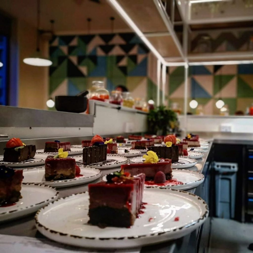 Vegan cakes at Stem and Glory's London restaurant