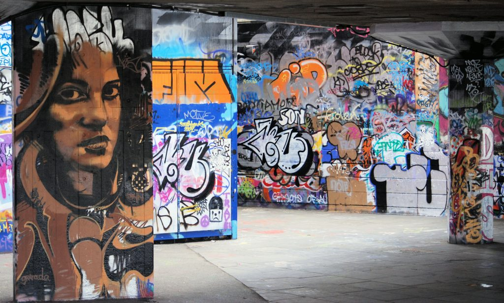Street art at the Undercroft South Bank 2017