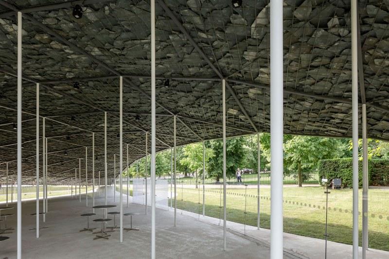 Underneath Junya Ishigami's Serpentine Pavilion installation