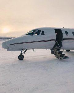 Lapland plane landing