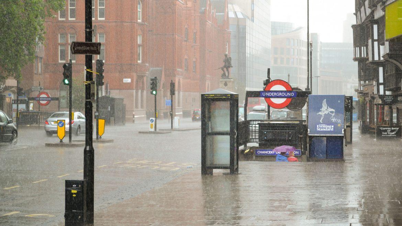 Chancery Lane on a rainy day