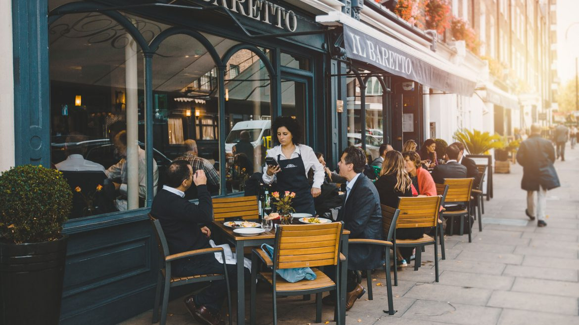 Exterior of a London restaurant