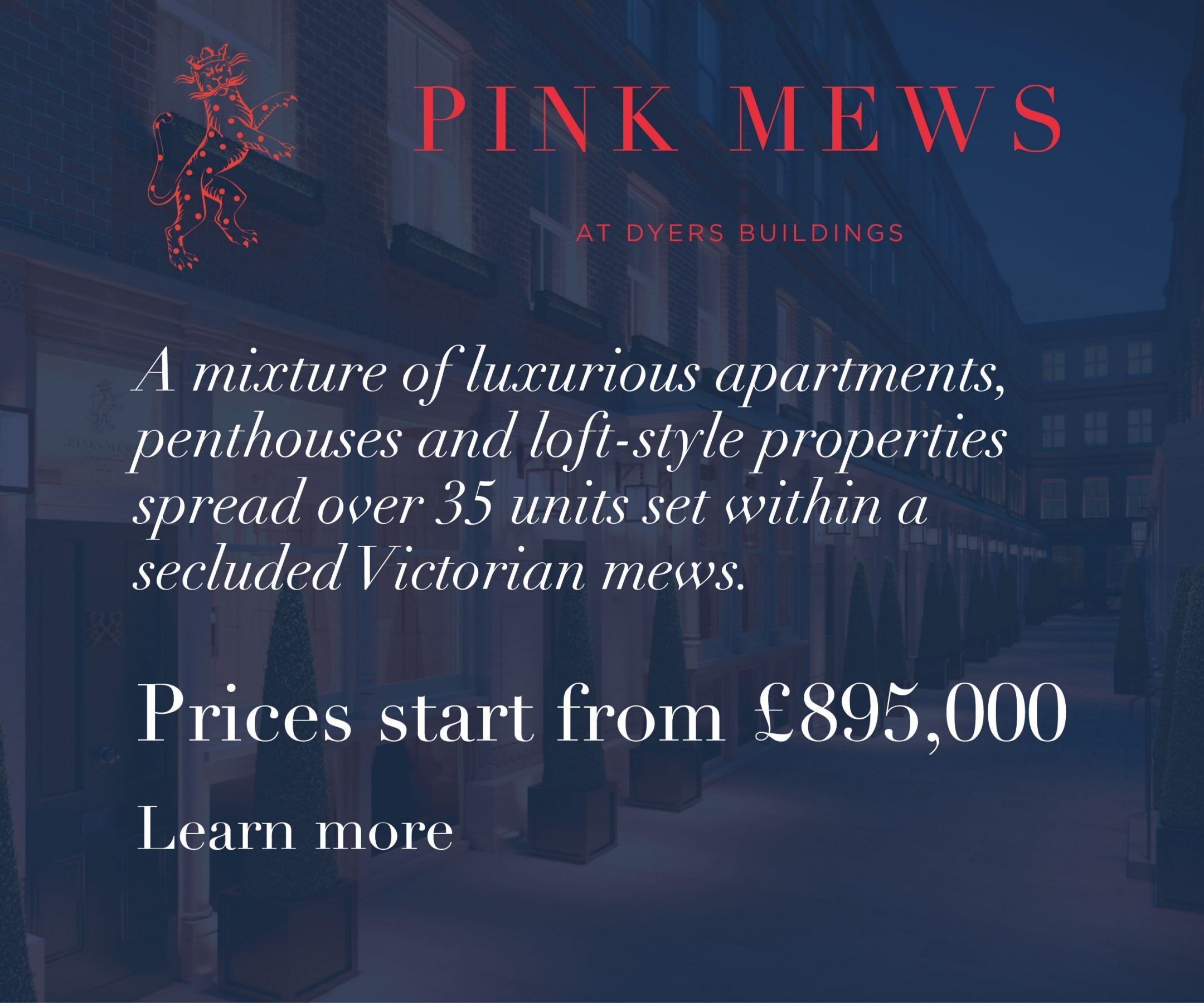 Ad placement for Pinks Mews