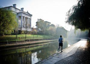 runner on Regent's Park Canal